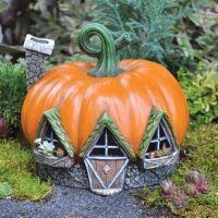 Halloween Garden -Fairy Garden Pumpkin House